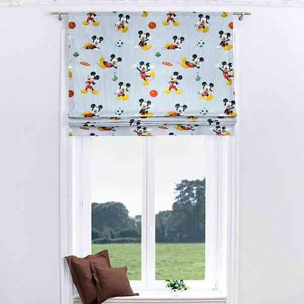 cortinas infantiles estor mickey telases