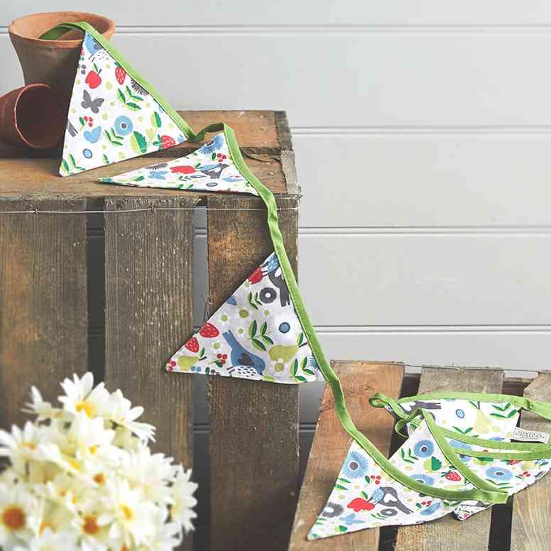 fiestas de cumpleanos originales guirnalda banderines tela
