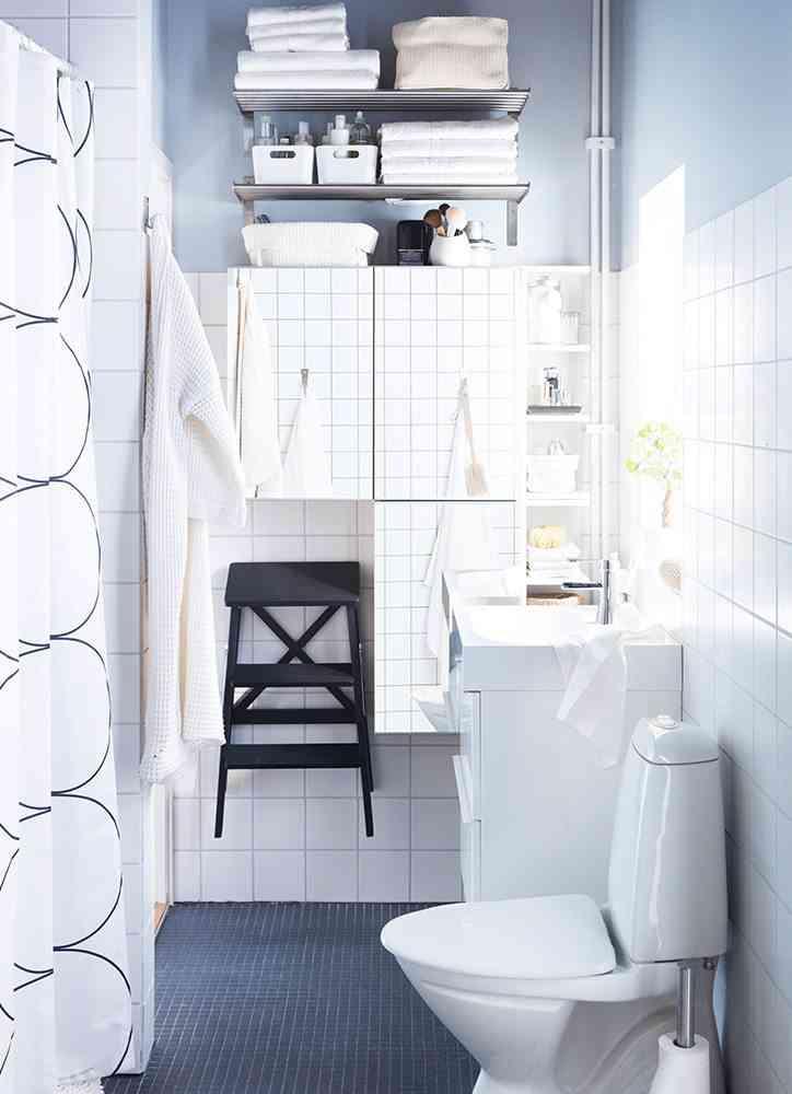 decoracion de banos pequenos ikea bano blanco