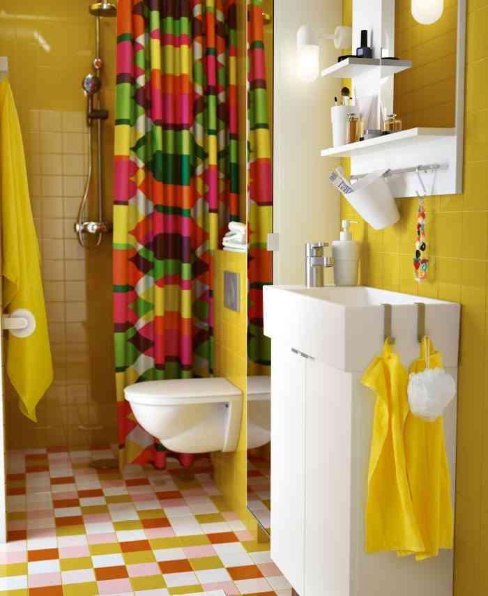cortinas de baño originales ikea psicodelia