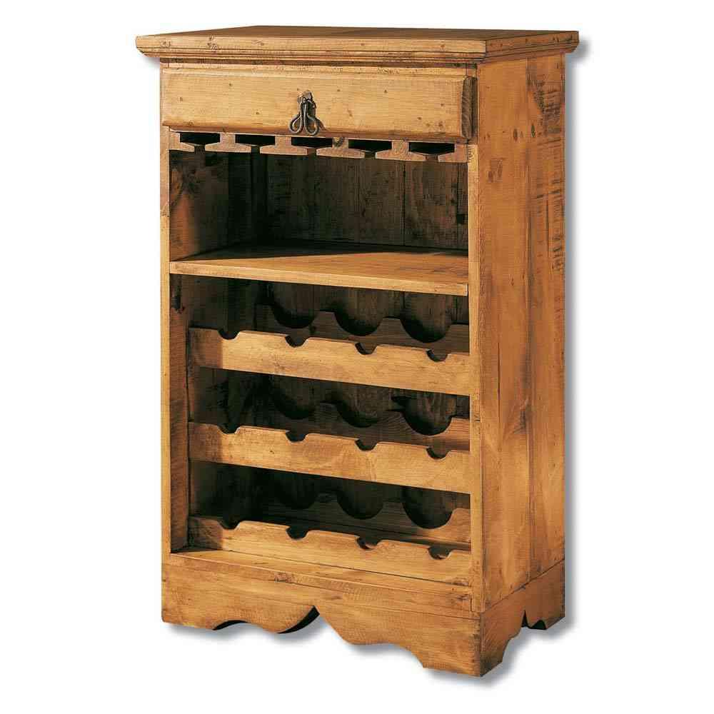 C mo crear un rinc n r stico en casa for Muebles para vinotecas