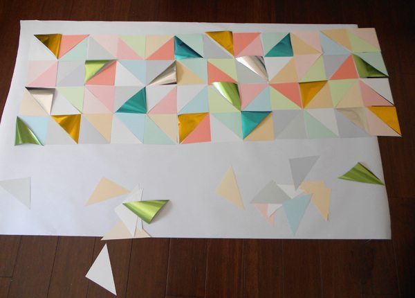 ideas para decorar las paredes panel triangulos componer