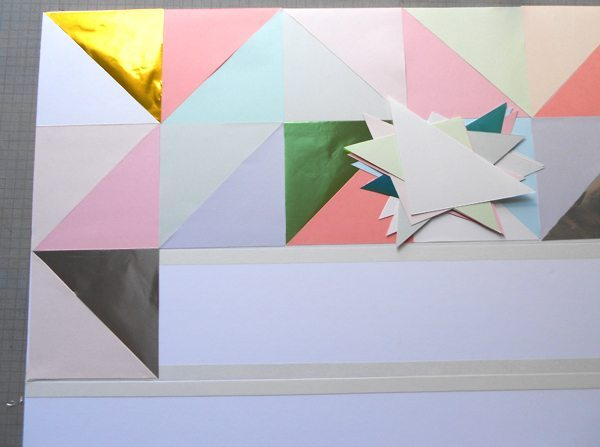 ideas para decorar las paredes panel triangulos pegar