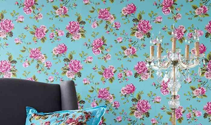 tiendas de decoracion on line papeles flores rosa