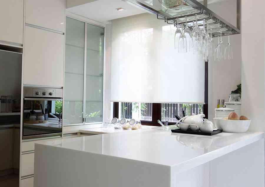 Claves para elegir cortinas de cocina modernas for Estores cocina modernos