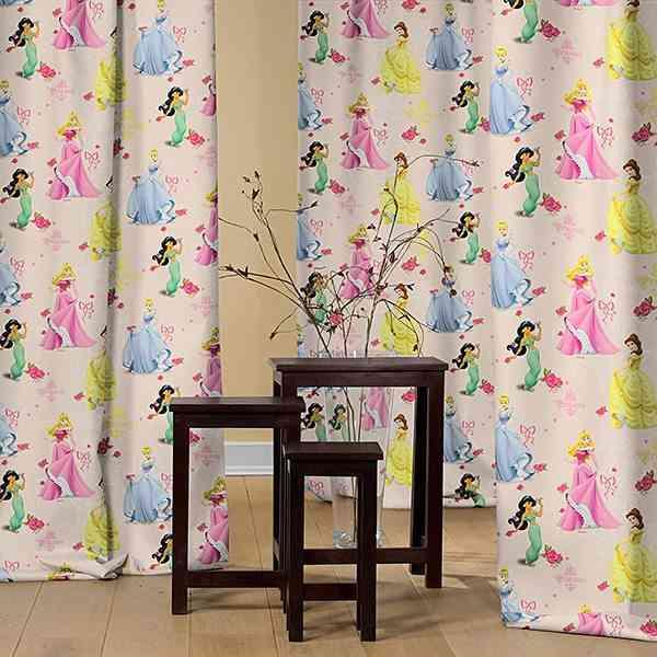 cortinas para nias princesas disney y flores