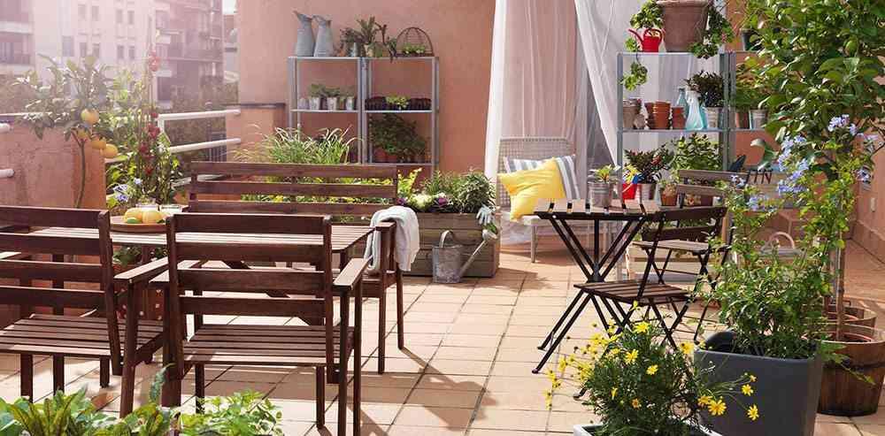 decoracion de terrazas en aticos terraza amplia ikea