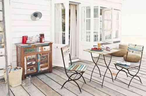decoracion de terrazas en aticos terraza sillas tijera maisons