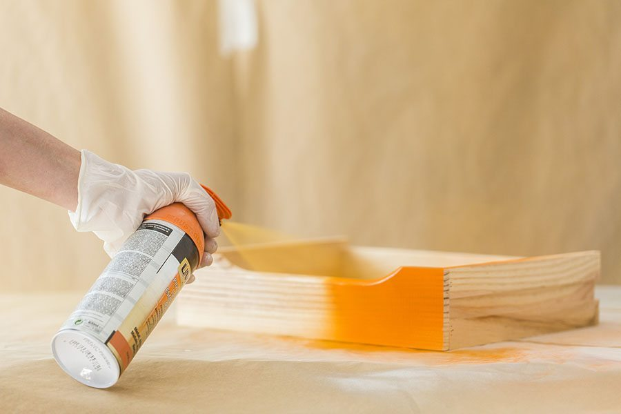 pintar una cajonera de madera cajonera cajon naranja