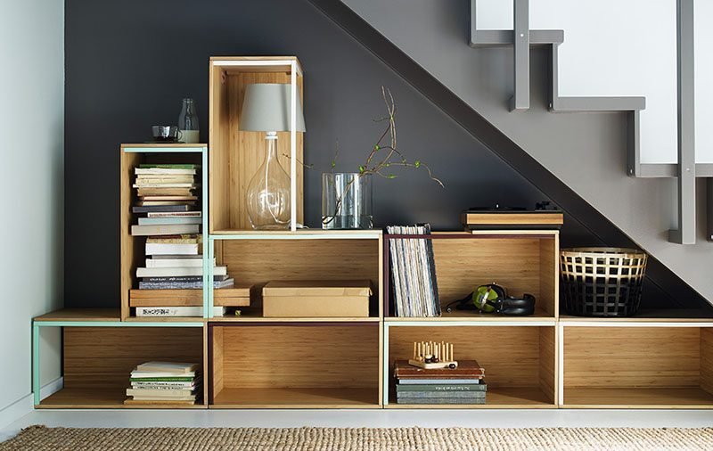 estanterias practicas cajones madera ikea