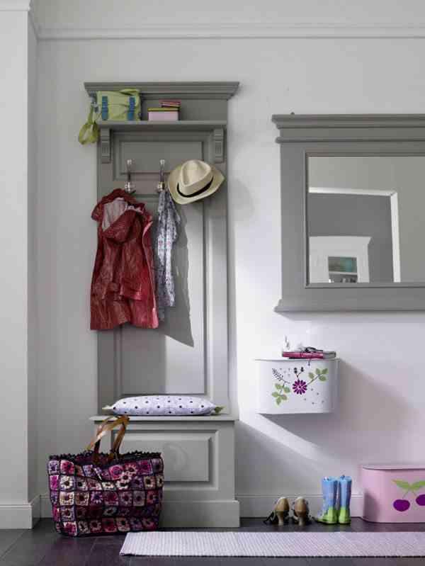 decorar el recibidor car mobel mueble gris