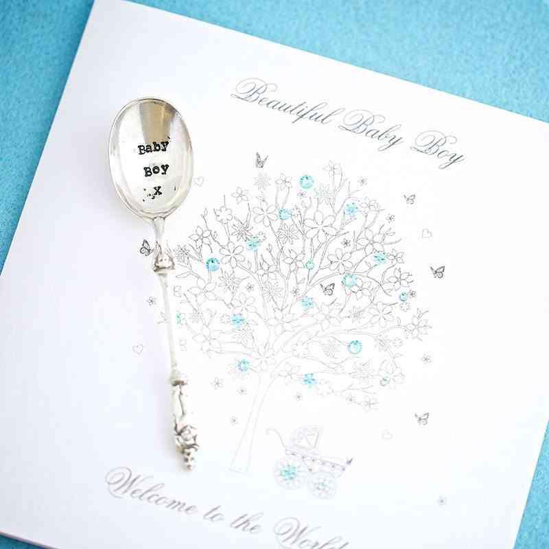 ideas para decorar un bautizo cuchara nino