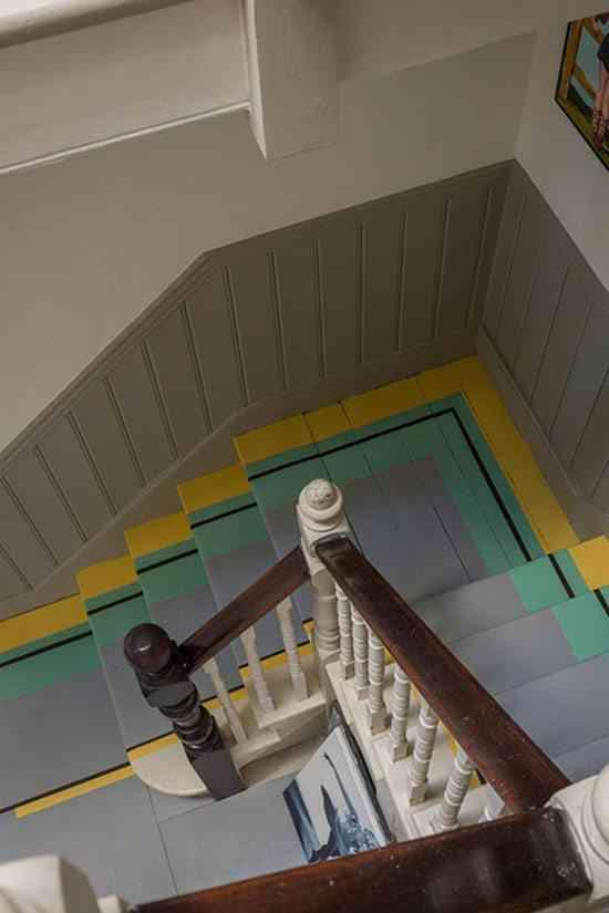 pintar los suelos escaleras