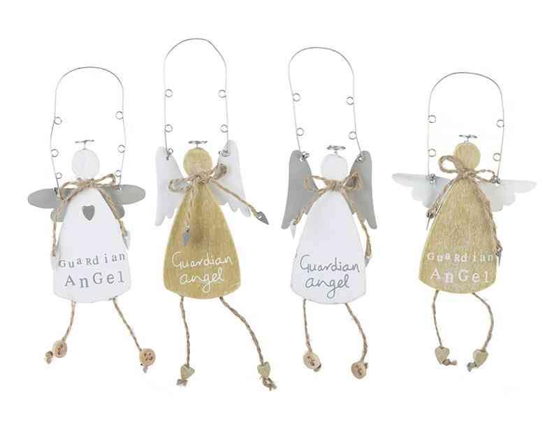 ideas para celebrar un bautizo Hanging Guardian Angels