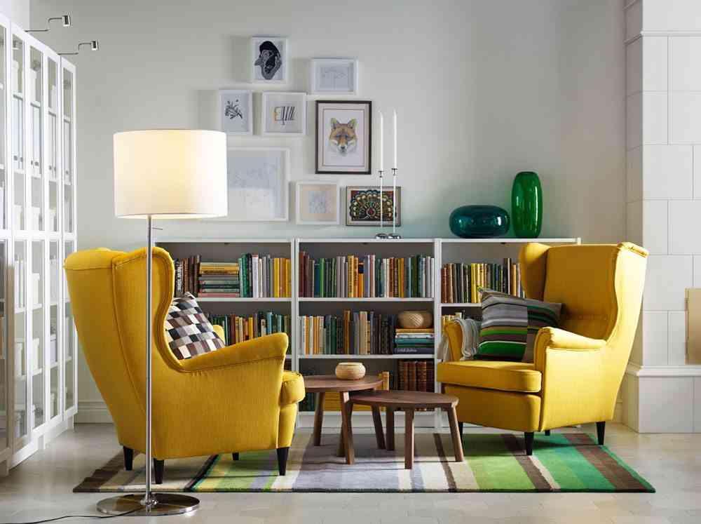 salon ordenado Ikea butacas