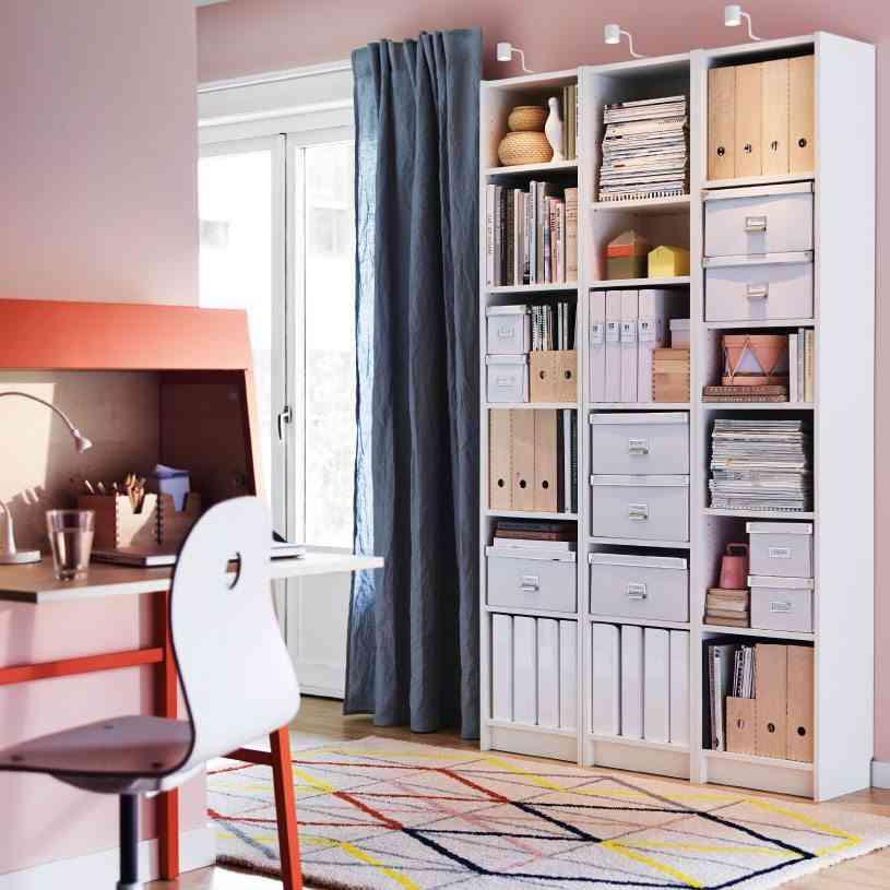 salon ordenado Ikea cajas