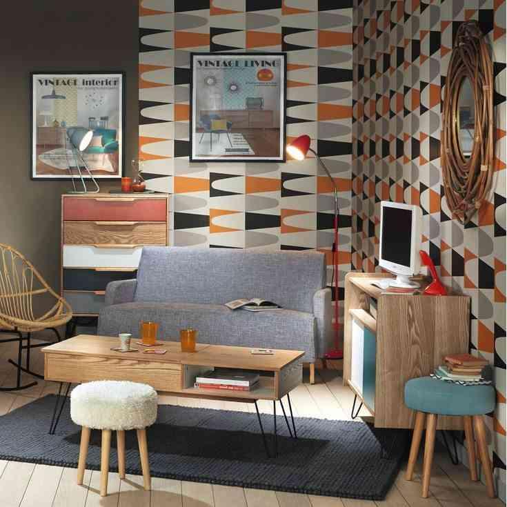 salon ordenado maison vintage