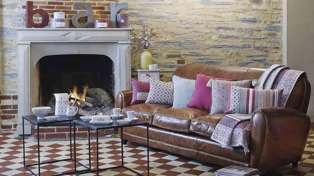 chimenea de salon maisons du monde vintage