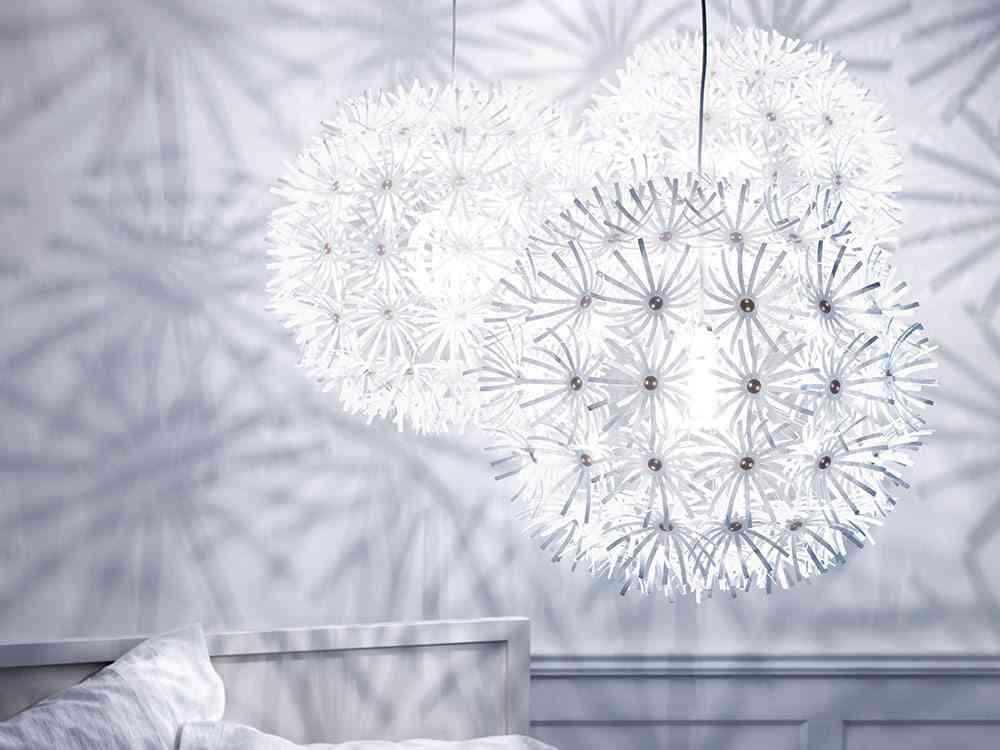 Cómo decorar con pantallas de lámparas de techo