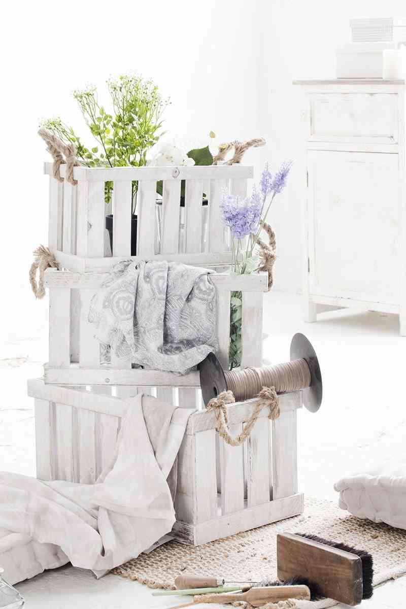decorar con cajas muymucho blancas