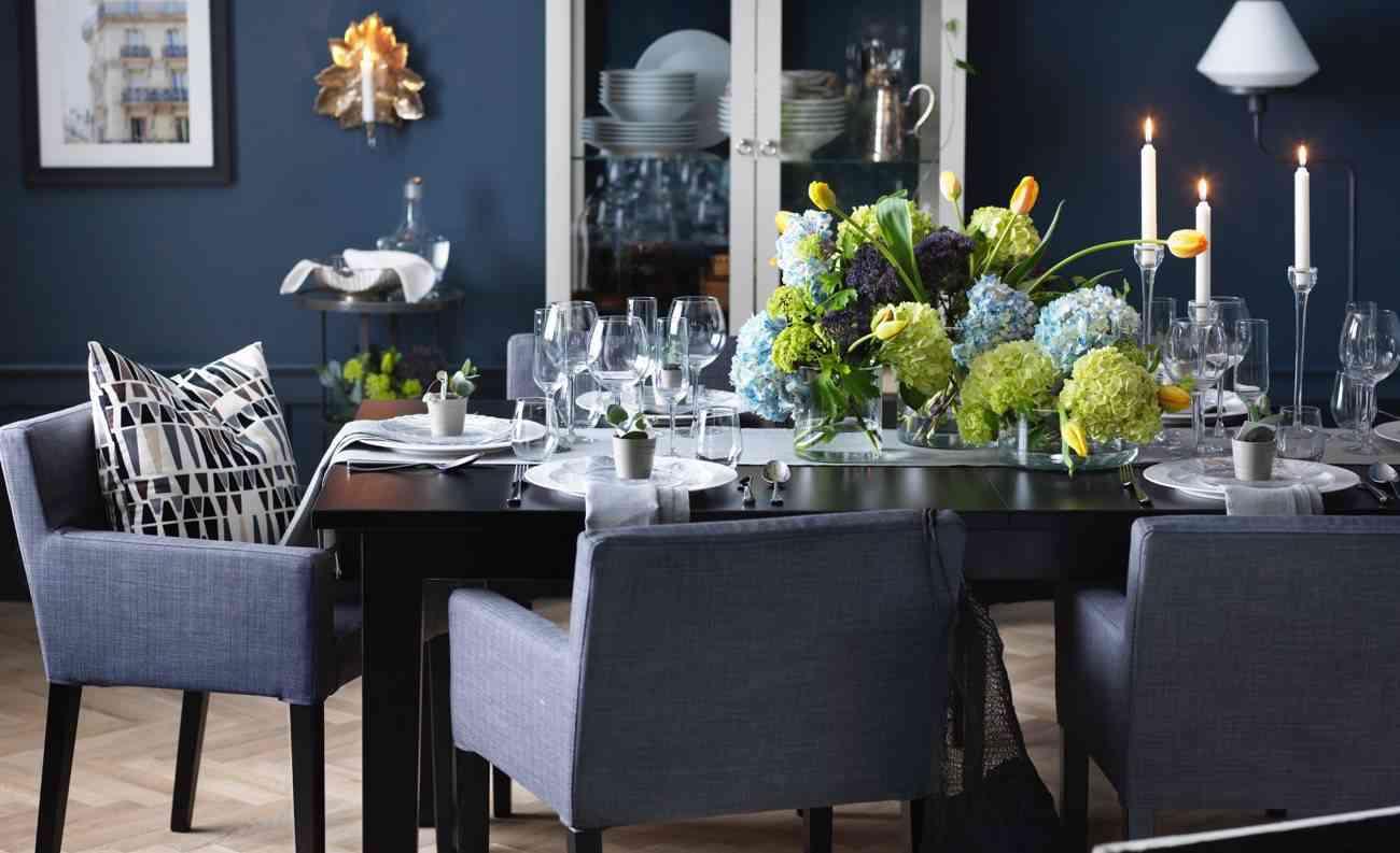 nuevo catálogo IKEA - comedor y hortensias