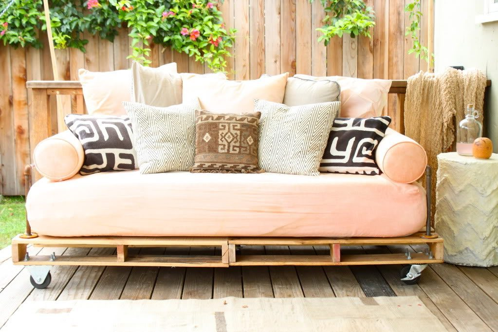 sofá palet diy