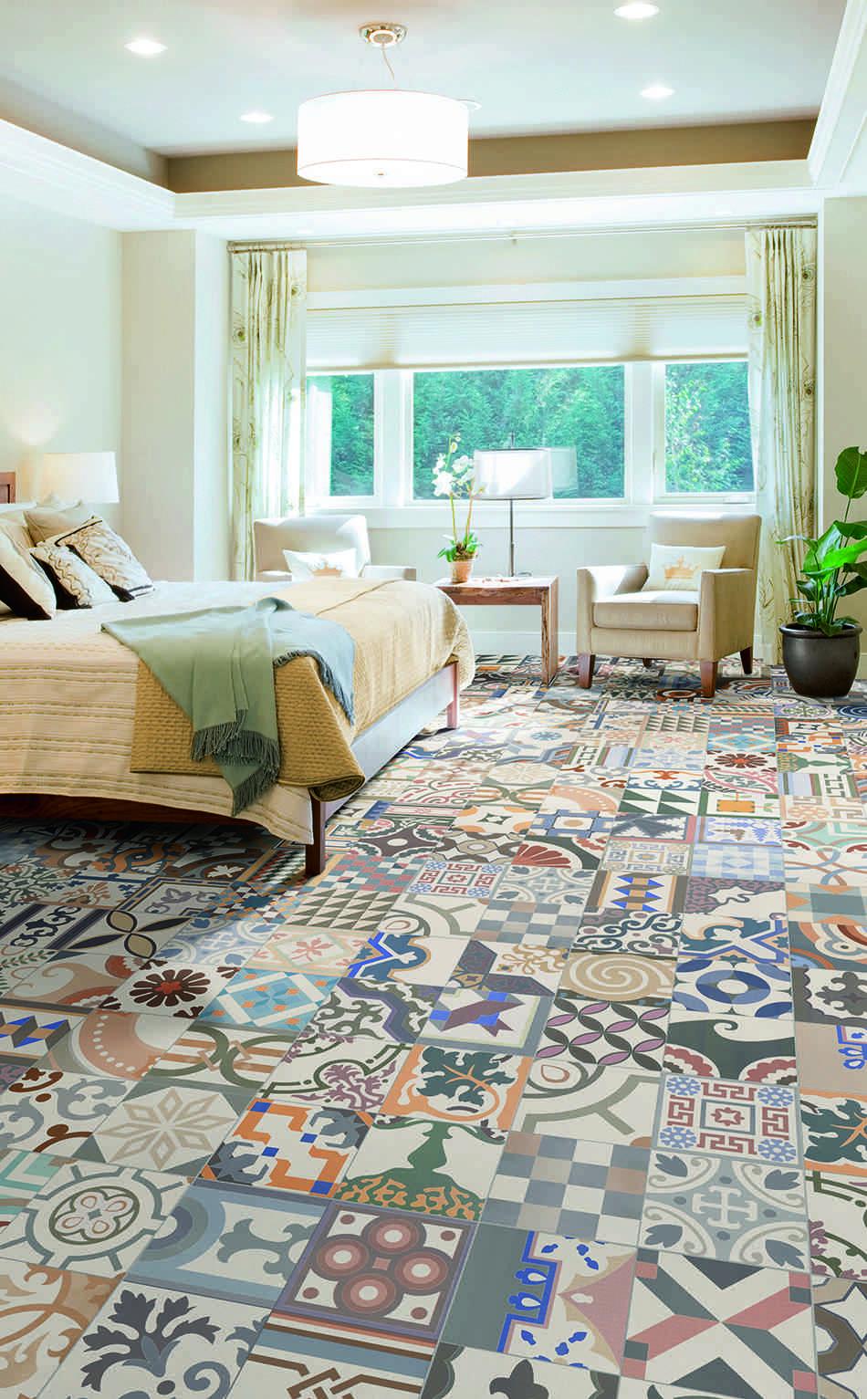 decorar los suelos Realonda serie Patchwork