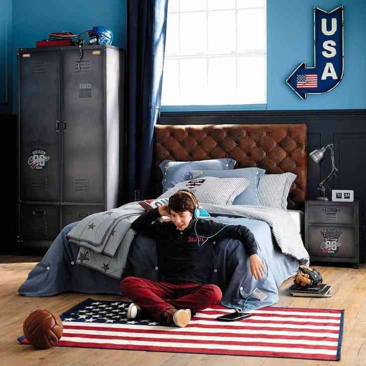 decorar habitaciones juveniles bandera americana