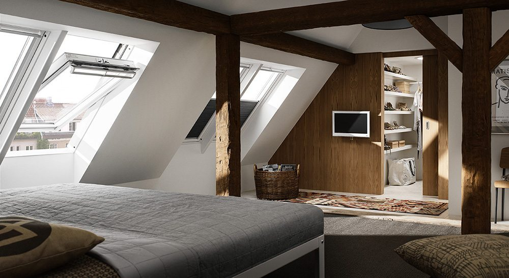 decorar la buhardilla bedroom velux