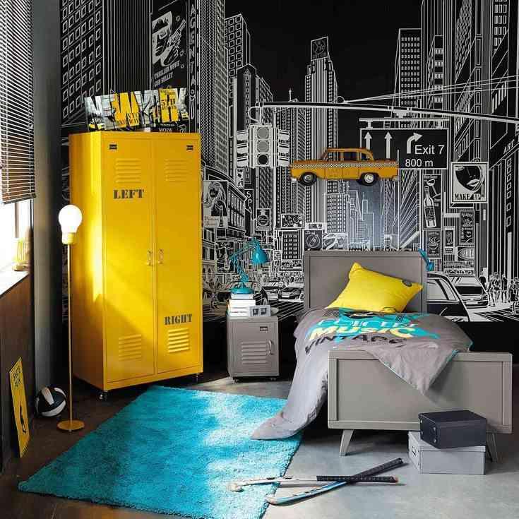 C mo decorar habitaciones juveniles con alfombras - Habitaciones juveniles para chico ...