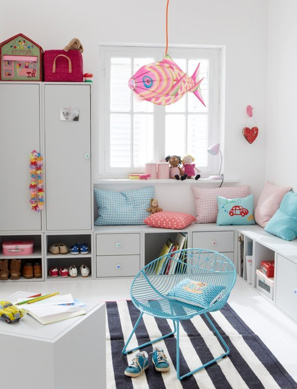 decorar habitaciones juveniles car mobel rayas
