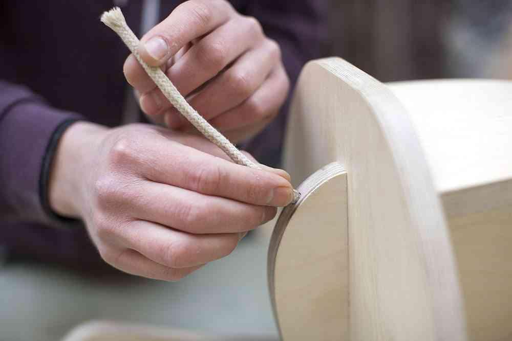 balancin de madera elefante cuerda