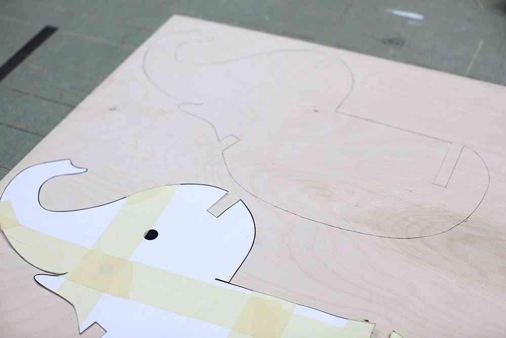 balancin de madera elefante madera