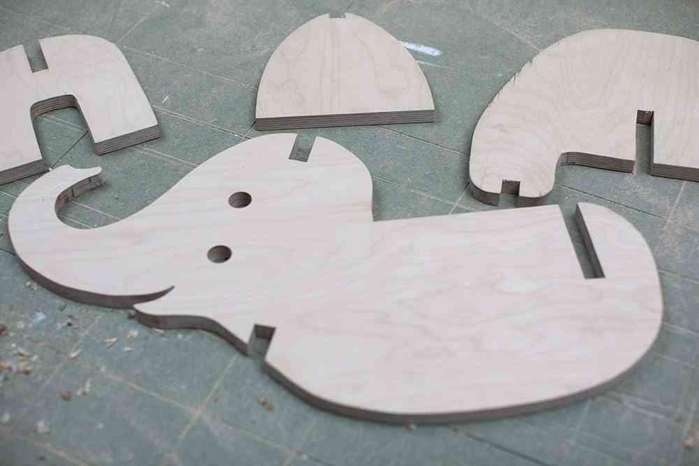 balancin de madera elefante piezas madera