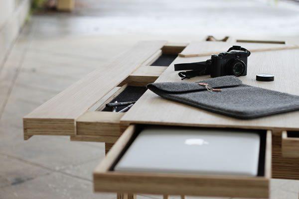 cajones de un escritorio de diseño