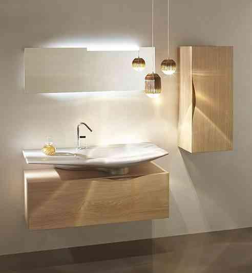 estilo minimalista y retro baño