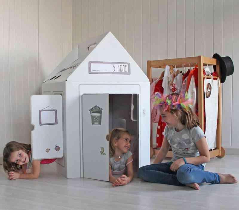 decorar las habitaciones infantiles housekit casita carton