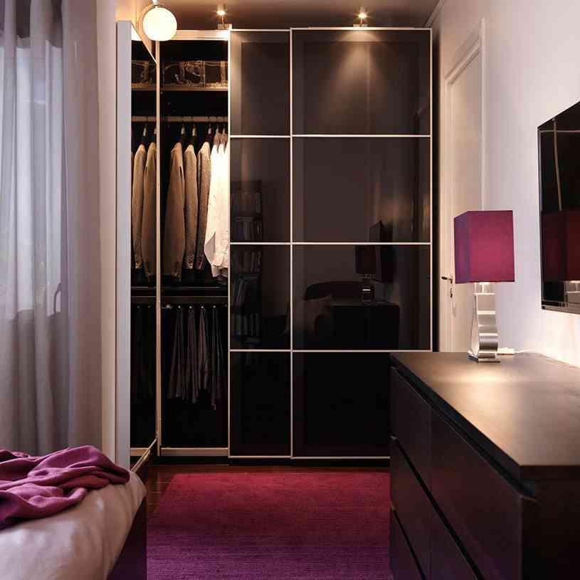 iluminar el dormitorio ikea zona armarios