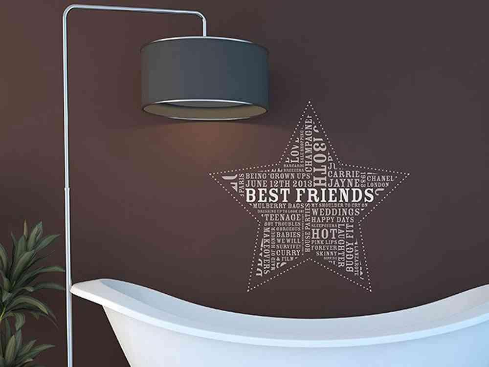decorar las paredes INSPACES estrella