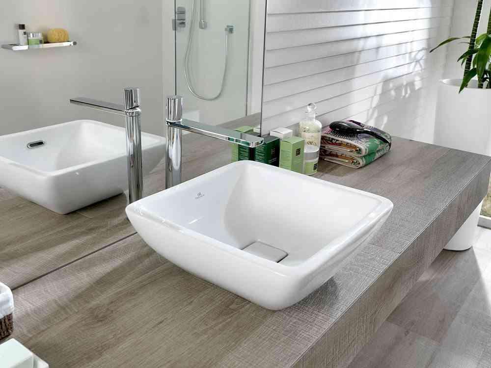 cuarto de bano lavabo encimera porcelanosa