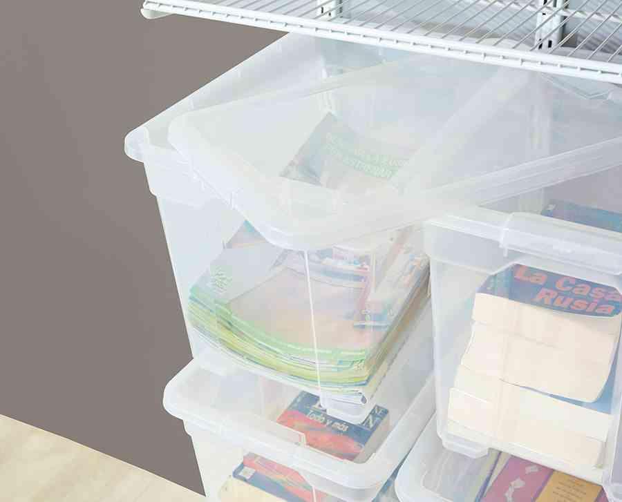 cajas para ordenar Leroy Merlin Caja de plastico