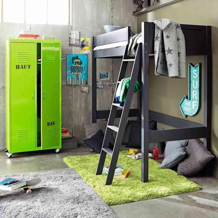 C mo decorar habitaciones juveniles con alfombras for Habitaciones con camas altas