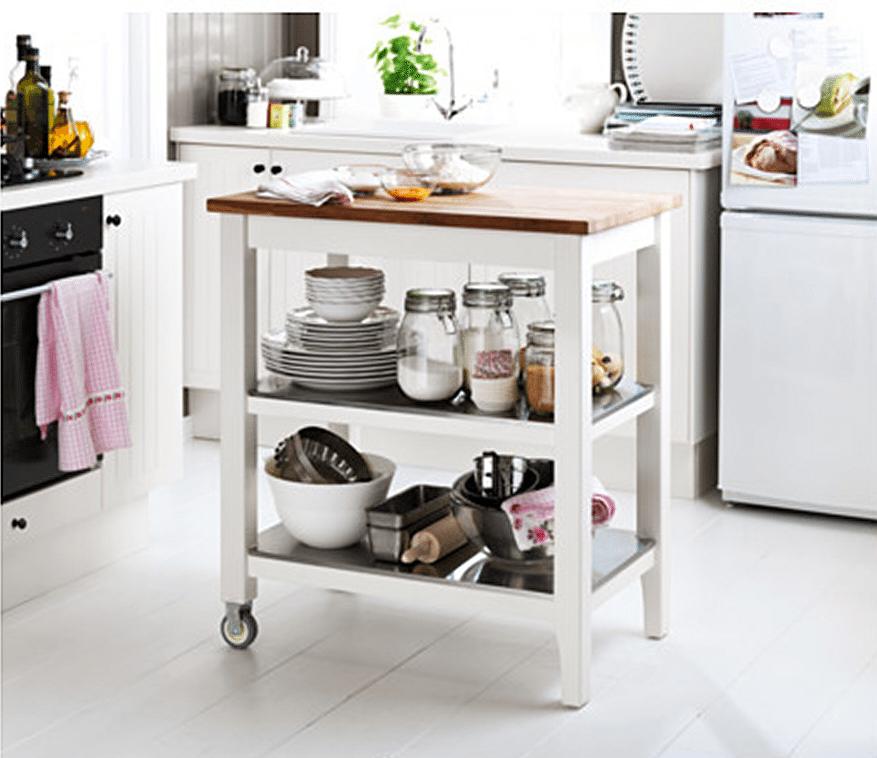 muebles auxiliares que querrás en tu cocina