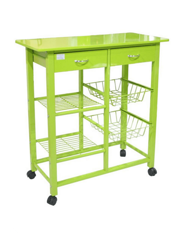 carrito verdulero en color verde