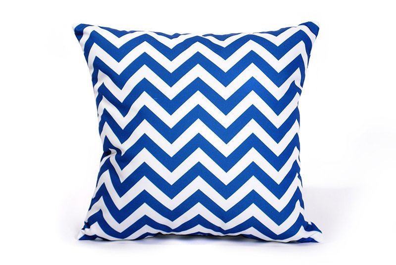 decoracion moderna con rayas Nazy Chevron Cushion Cover