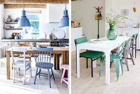 Claves para combinar sillas de diseño vintage