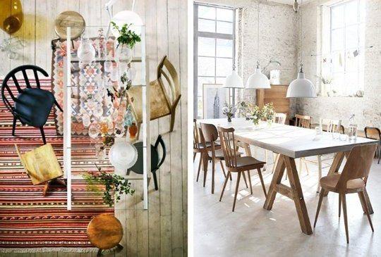 sillas y mesas vintage