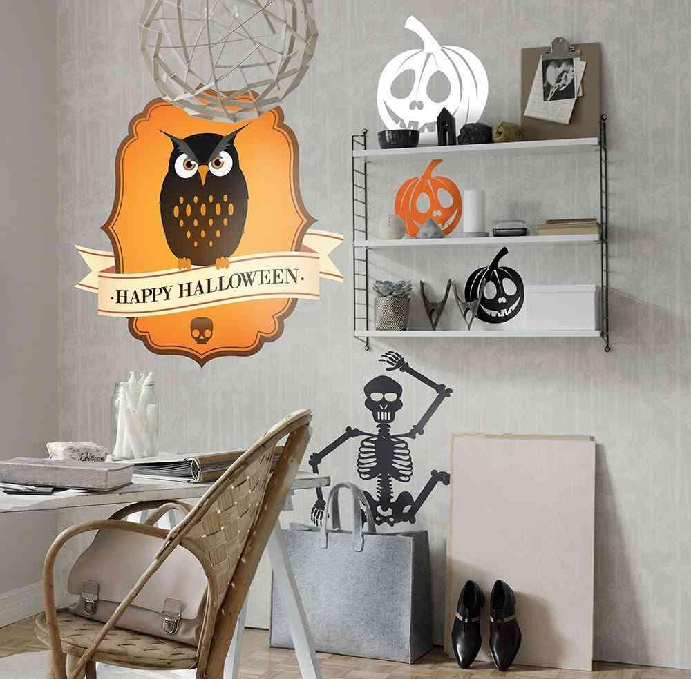 decoracion de Halloween Tenvinilo buho halloween