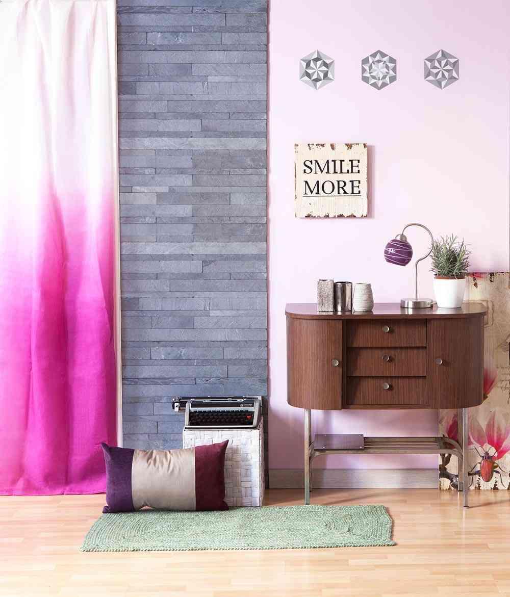 decorar con piedra natural ambiente piedra rosa