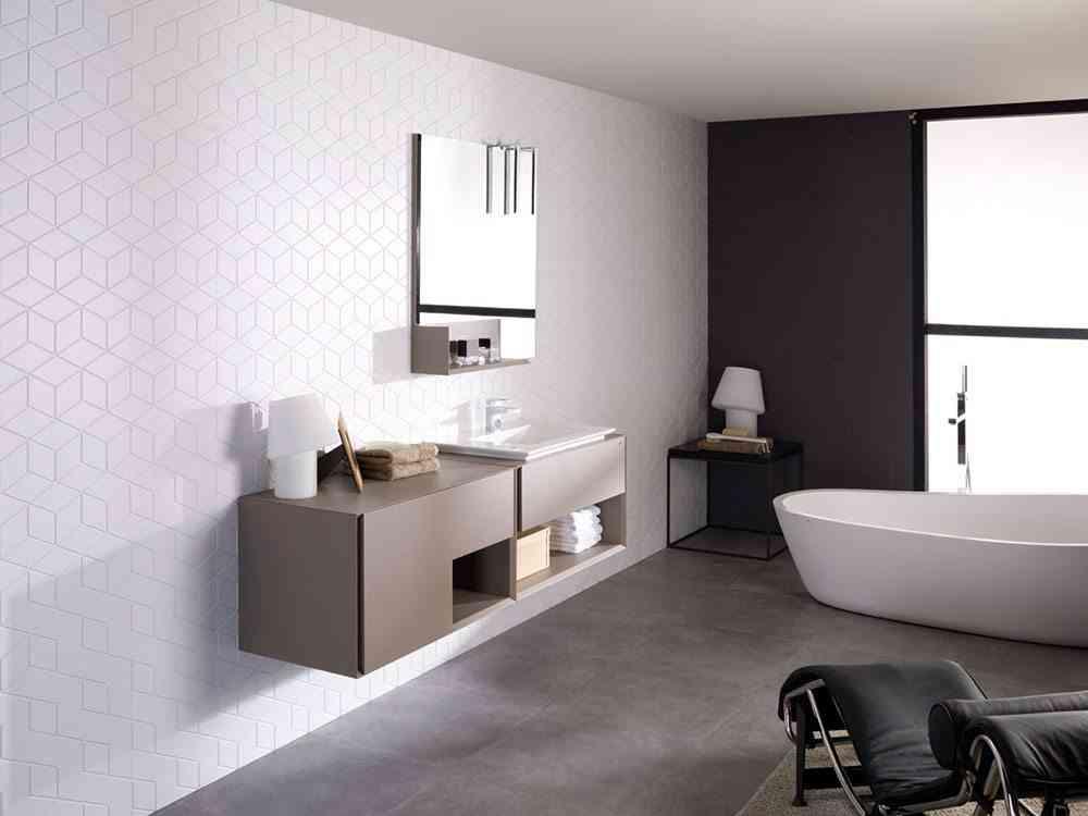 decorar ambientes de estilo minimalista bano porcelanosa